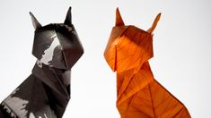 Check out all the finished projects. Beautiful delicate flowers, colorful animals and even some fashionable items. Origami Cat, Origami Animals, Colorful Animals, Delicate, Gallery, Cats, Projects, Log Projects, Gatos
