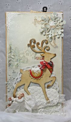 Crafting ideas from Sizzix UK: Gift Bag for Christmas Brenda Walton Christmas Paper Crafts, Diy Christmas Cards, Xmas Cards, Handmade Christmas, Holiday Cards, Christmas Ideas, Winter Cards, Card Tags, Homemade Cards