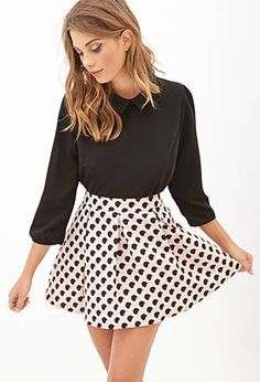 Dotted A Line Skirt from Forever 21 $19,90