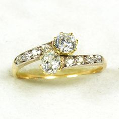 1000 Images About Antique Jewellery 2 Stone Diamond