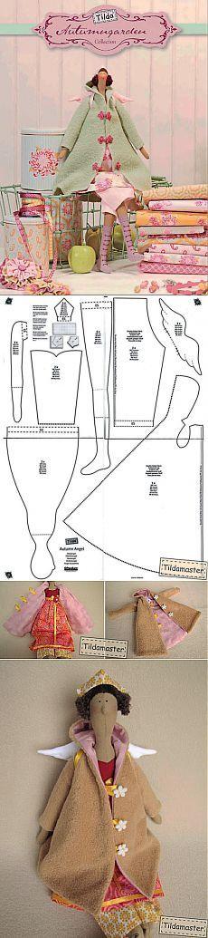 тильда осенний ангел детальный мастер класс с пошаговыми инструкциями и рисунками | тильда мастер (тильдамастер)