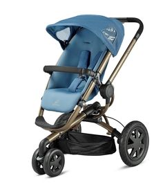 Buy your Quinny Buzz 3 Pushchair - Blue Charm (Bronze Frame) from Kiddicare 3 Wheelers| Online baby shop | Nursery Equipment