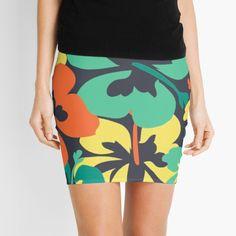 """Flower Print, Flower Pattern"" Mini Skirt by MsD7 | Redbubble Flower Patterns, Print Patterns, Flower Prints, Knitted Fabric, Chiffon Tops, Crew Neck Sweatshirt, Mini Skirts, Women's Fashion, Tank Tops"