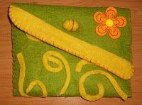 Con la Aguja del Revés: Cartera de fieltro aspecto de lana