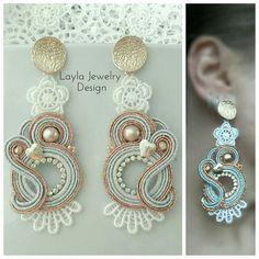 Soutache Necklace, Ring Necklace, Tassel Earrings, Boho Jewelry, Jewelery, Handmade Jewelry, Shibori, Beaded Embroidery, Fashion Earrings