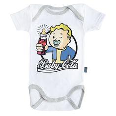 Blanc Baby Geek Voleur Body B/éb/é manches courtes Coton Coutures grises Parent