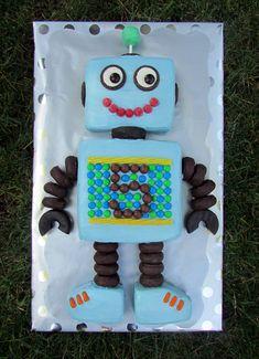 Robot Cake - Full View                                                                                                                                                      More