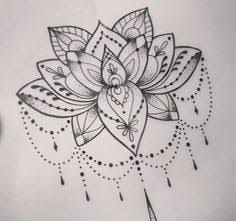 Resultado de imagem para lace lotus tattoo black and white