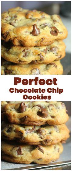 Perfect Chocolate Chip Cookies, Chocolate Cookie Recipes, Semi Sweet Chocolate Chips, Chocolate Chocolate, Chcolate Chip Cookies, Christmas Chocolate Chip Cookies, Chocolate Chip Biscuits, Holiday Cookies, Fun Desserts
