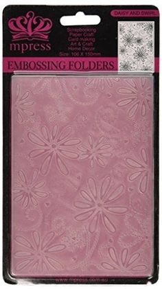 Crafts-Too Embossing Folder, 4 by 6-Inch, Daisy and Swirl #CraftsToo