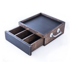 Serving tray with drawer