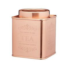 Kitchencraft Le'xpress Metal Tea Caddy, 10 x - Copper Finish Coffee Canister, Copper Kitchen, Kitchen Dining, Kitchen Craft, Happy Tea, Tea Storage, Coffee Geek, Tea Packaging, Aromatherapy