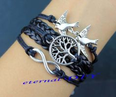 Bird lovers the wish tree infinity bracelets by eternalDIY on Etsy, $4.99