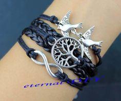 Bird lovers the wish tree infinity bracelets by eternalDIY on Etsy, $2.99