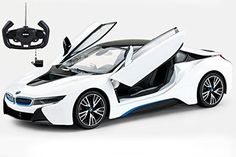 Hobby RC Cars - Radio Control Model Car 114 BMW i8 Authentic Body Styling wOpen Doors RC Vehicles White by Midea Tech -- You can get additional details at the image link.