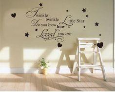 Wall Decal Quote Sticker Vinyl Art Twinkle Twinkle Little Star Nursery DIY | eBay