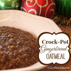 Crock-Pot Gingerbread Oatmeal  {via CrockPotLadies.com}