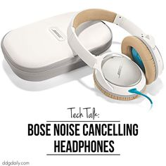 These noise cancelling headphones from Bose are all kinds of amazing. They block out the external racket and deliver a fuller, richer sound for a better listening exeperience.
