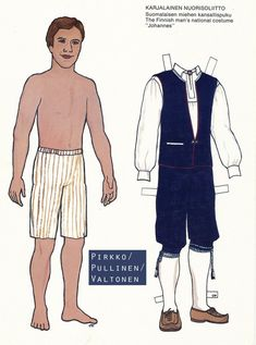 Kansallispukupaperinuket / Paper Dolls in National Costumes (Finnish) Paper Dolls, Costumes, Sketch, Book, Crafts, Paper Puppets, Sketch Drawing, Manualidades, Dress Up Clothes
