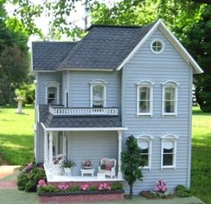Dollhouse and/or Miniature House Dollhouse Kits, Dollhouse Dolls, Dollhouse Miniatures, Dollhouse Shelf, Victorian Dolls, Victorian Dollhouse, Miniature Rooms, Miniature Houses, Fairy Houses