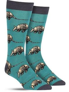 We promise these cool bamboo armadillo socks are soft as can be, despite the tough hide worn by their inspiration.