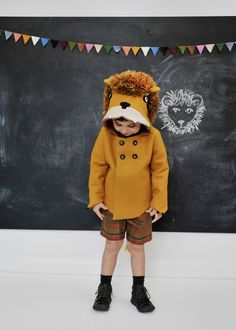 Childs Ferocious Felt Lion Coat. $160.00, via Etsy.