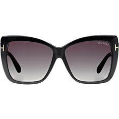 fe3b708f5cc88 Tom Ford Irina Sunglasses featuring polyvore fashion accessories eyewear  sunglasses multi logo sunglasses square sunglasses square