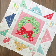 Cozy Christmas Sew Along - Week Four - Block Four!! | Bee In My Bonnet | Bloglovin' Christmas Quilt Patterns, Christmas Blocks, Cozy Christmas, Christmas Pillow, Christmas Quilting, Christmas Crafts, Christmas Ideas, Quilt Blocks Easy, Quilt Block Patterns