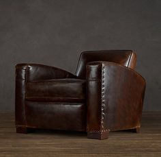 Man Cave Library | Library Leather Chair | Leather | Restoration Hardware | Gentlemint