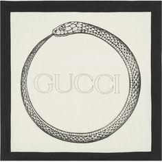 Black and Red Silk Future Logo Scarf Gucci n7dQy0i