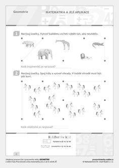 Ukázkové listy :: KuliFerda a jeho svět Nars, Preschool, Learning, Geometry, Kid Garden, Studying, Teaching, Kindergarten, Preschools