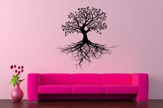 Wall Vinyl Sticker Decals Mural Room Design Pattern Art Decor Tree Of Life Branch Forest Wood Nature bo2229 by RoomDecalsAndDesigns on Etsy