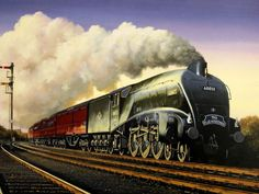 High quality print off a superb original oil paintings will stand out in any room. Steam Trains Uk, South African Railways, Steam Art, Train System, Steam Railway, Railroad Photography, Train Art, Steam Engine, Steam Locomotive