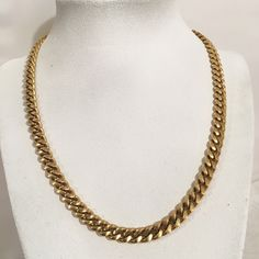 Vintage Signed Monet Curb Link Chain Necklace Gold Tone Costume Jewelry 18 Inch Gift by JewelryGeeks on Etsy https://www.etsy.com/listing/260287607/vintage-signed-monet-curb-link-chain