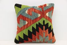 Decorative Kilim pillow cover 12 x 12  by kilimwarehouse on Etsy