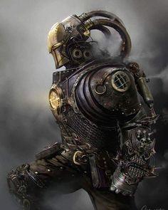 Steampunk Iron Man by Mateusz Ozminski - artozi   The pipes remind me of Loki.