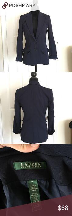 Ralph Lauren navy blue jacket size 2 Worn only once in great condition Lauren Ralph Lauren Jackets & Coats