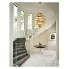 Vertigo Foyer Pendant by Corbett Lighting Stairway Lighting, Foyer Lighting, Corbett Lighting, Cheap Apartment, Bohemian Style Bedrooms, Vertigo, Stairways, Lighting Design, Troy Lighting