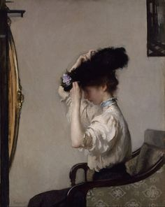 Preparing for the Matinee, Edmund Charles Tarbell, 1907. Oil on canvas.