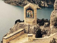 "The Shrine of Our Lady of Torreciudad. ocated near the town of Barbastro, in the Huesca province is the Sanctuary of Torreciudad. Its privilege location on the top of a mount makes this unique place a perfect natural environment, with great landscape views over ""lake Grado"". http://www.pilgrim-info.com/europe/spain/the-shrine-of-our-lady-of-torreciudad/"