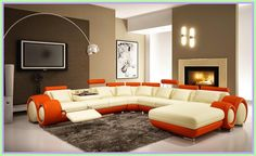modern living room furniture stunning modern home interior ideas for living room with showy sofa design and dark rug also nice fireplace and cool arch lamp medium Living Room Sofa Design, Living Room Paint, Living Room Colors, Rugs In Living Room, Living Room Furniture, Living Room Designs, Modern Furniture, Furniture Ideas, Family Furniture