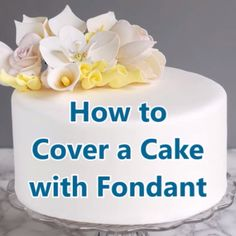 Love it or hate it, there is no doubt that a cake with a porcelain fondant finish is a thing of beauty. After you learn how to cover a cake with fondant you'll be ready to create spectacular celebration cakes. easiest howto rolledfondant tips tutorial Cake Decorating Videos, Cake Decorating Techniques, Cookie Decorating, Beginner Cake Decorating, Cake Decorating With Fondant, Decorating Ideas, Cake Icing, Fondant Cakes, Fondant Cake Decorations