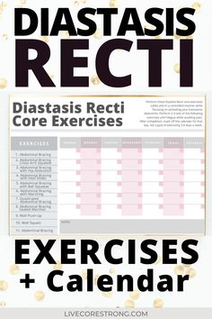 Have you been diagnosed with Diastasis Recti? Or maybe you did a self test post-baby? Are you wanting to know how to fix it? Then you will benefit from these Physical Therapy recommended Diastasis Recti Core Exercises for the Postpartum Belly. Each exercise is specifically geared towards correcting the abdominal separation and repairing your core. #diastasisrecti #correctiveexercises #fixdiastasisrecti #postbaby #postpartum #pregnancy #abseparation #repairdiastasisrecti… Diastasis Recti Physical Therapy, Diastasis Recti Exercises, Core Exercises, Postpartum Workout Plan, Postpartum Recovery, Post Baby Workout, Mommy Workout, Post Baby Belly, Flatten Belly