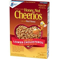 Honey Nut Cheerios, Gluten Free, Cereal with Oats, oz General Mills Cereal Cheerios Cereal, Honey Nut Cheerios, Crunch Cereal, Granola Cereal, Cereal Bars, Gluten Free Cereal, Gluten Free Oats, Oats Recipes, Gourmet Recipes