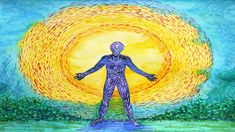 Illustration about Human and higher power, abstract watercolor painting, 7 chakra yoga reiki. Illustration of aura, connected, holistic - 89297759 Osho, Abstract Watercolor, Watercolor Paintings, Watercolour, Meditation Musik, Chakra Meditation, Mindfulness Meditation, What Is Energy, Love Frequency