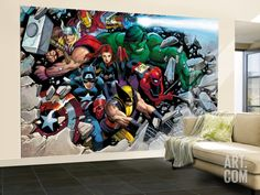 Son of Marvel Reading Chronology Cover: Thor Wall Mural – Large by John Romita Jr. at Art.com