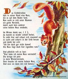 Das Eichhörnchen Gedicht Reim Kindergarten Erzieherin Kita Kinder Erziehung Herbst