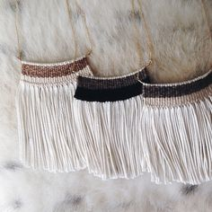Wide Woven Necklaces   Kari Breitigam