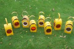 Old road work lamps..had totally forgotten these! Hands up, who 'borrowed' one for their bedroom :0)