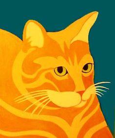 cat custom pet portrait painting by BZTAT www.bztat.com